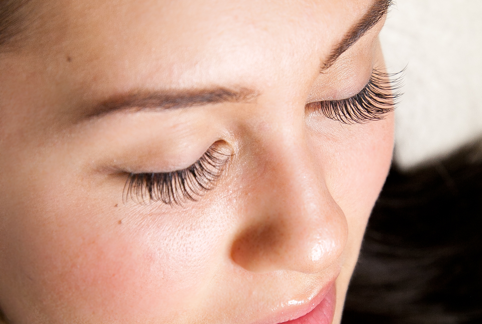 Model showcasing eyelash extensions