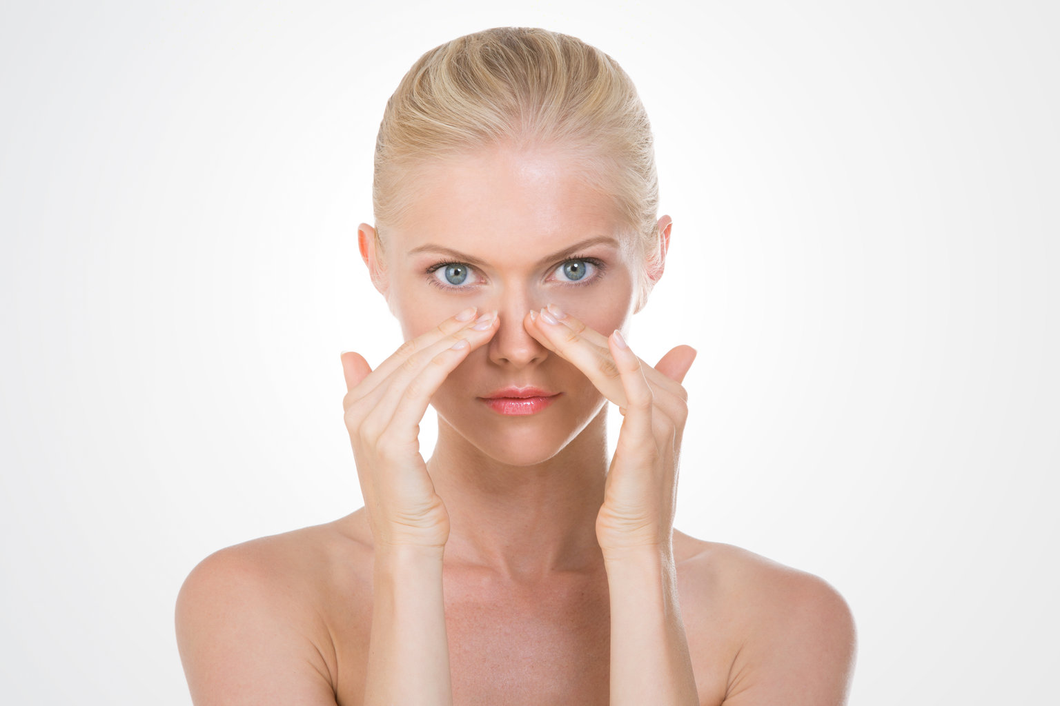 woman with under-eye circles