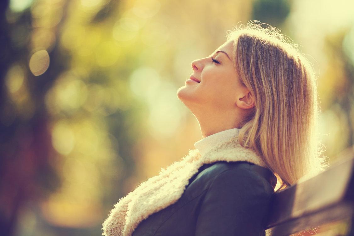 grateful woman