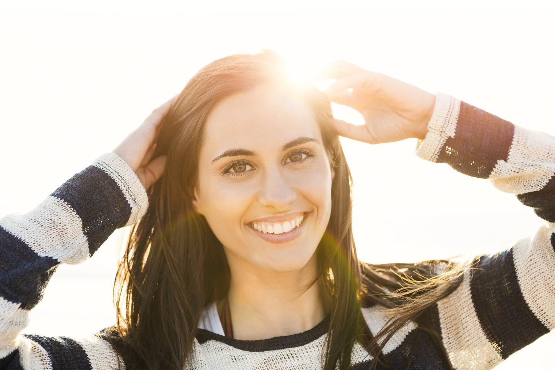 happy, confident woman