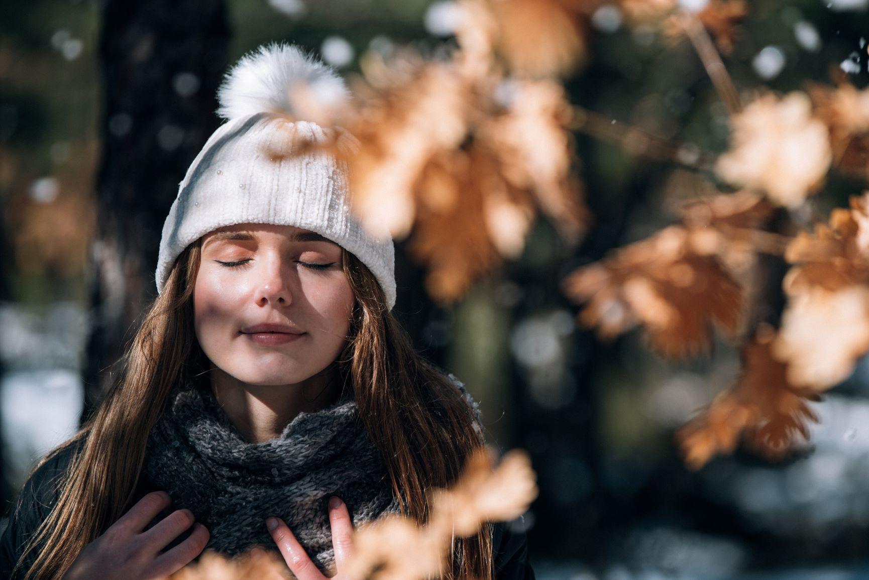 dehydrated skin in winter