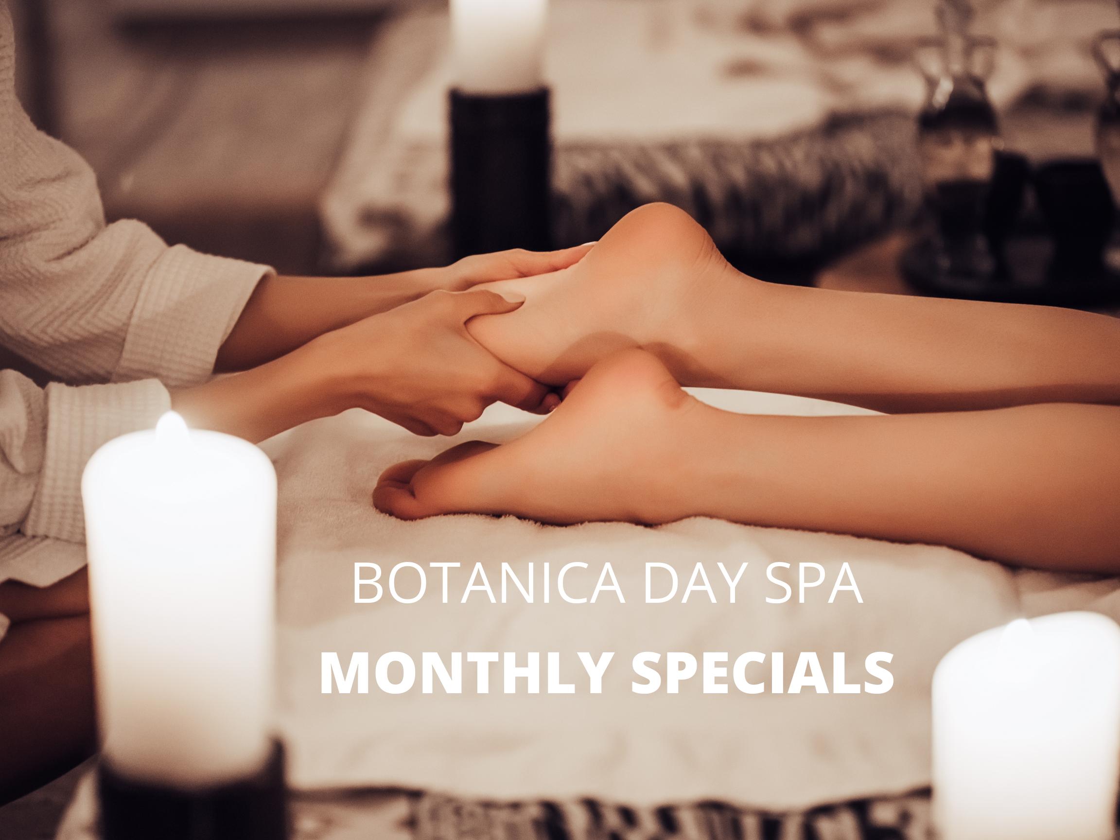 spa specials at botanica day spa