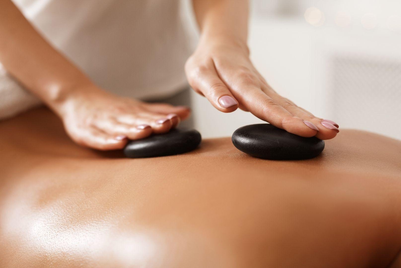 a hot stone massage